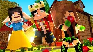Minecraft: WHO'S YOUR FAMILY? - A BEBÊ DA BRANCA DE NEVE COMEU A MAÇÃ ENVENENADA!