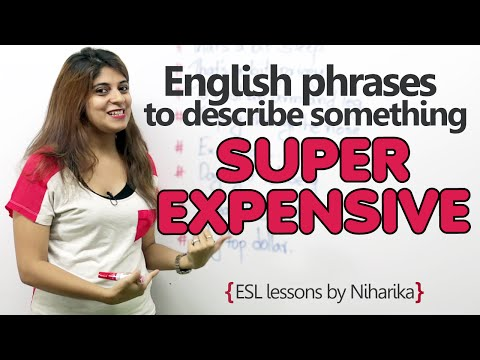 English phrases to say something is super expensive - Free English lesson