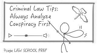 Criminal Law Tips:  Always Analyze Conspiracy First on a Crim Law Exam - 7Sage Law School Prep