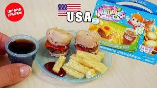 Amerykańskie HAMBURGERY z proszku! Yummy Nummies - JAPANA zjadam #112 | Agnieszka Grzelak Vlog