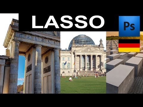 Инструмент прямолинейное и магнитное лассо. Выделение. Фотошоп. Photoshop. Берлин. Обучение. Уроки