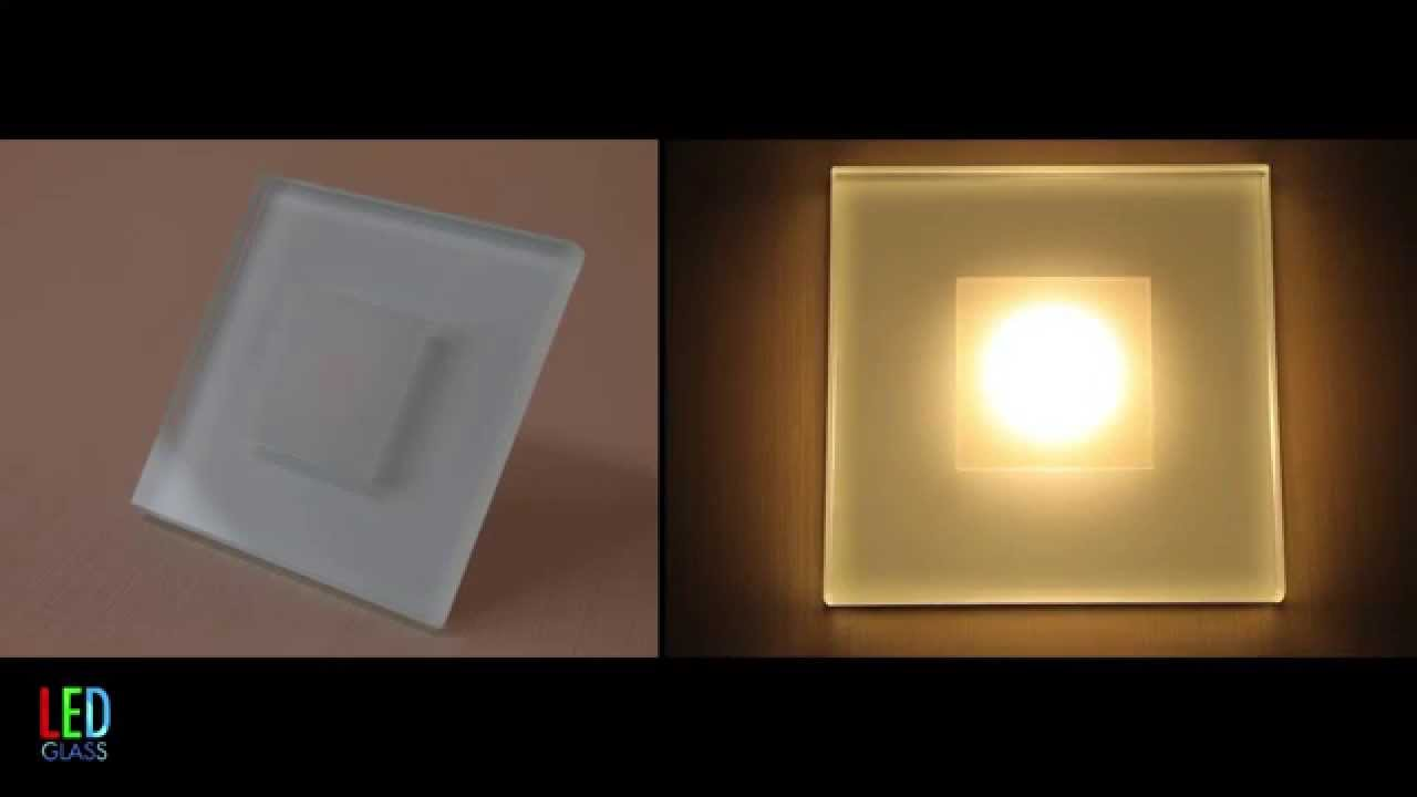 sun led wall light in glass and aluminium high quality stair lights youtube