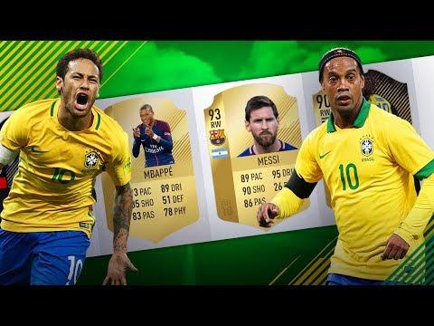 Co za napad! RONALDINHO & NEYMAR!   FIFA 18 Draft