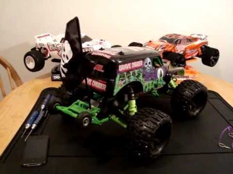 traxxas grave digger vxl how to part 3 how to save money and do it yourself. Black Bedroom Furniture Sets. Home Design Ideas