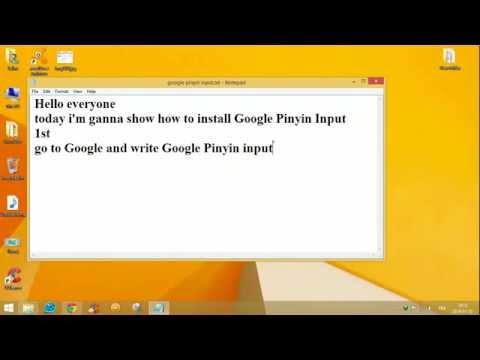 How to install Google Pinyin Input