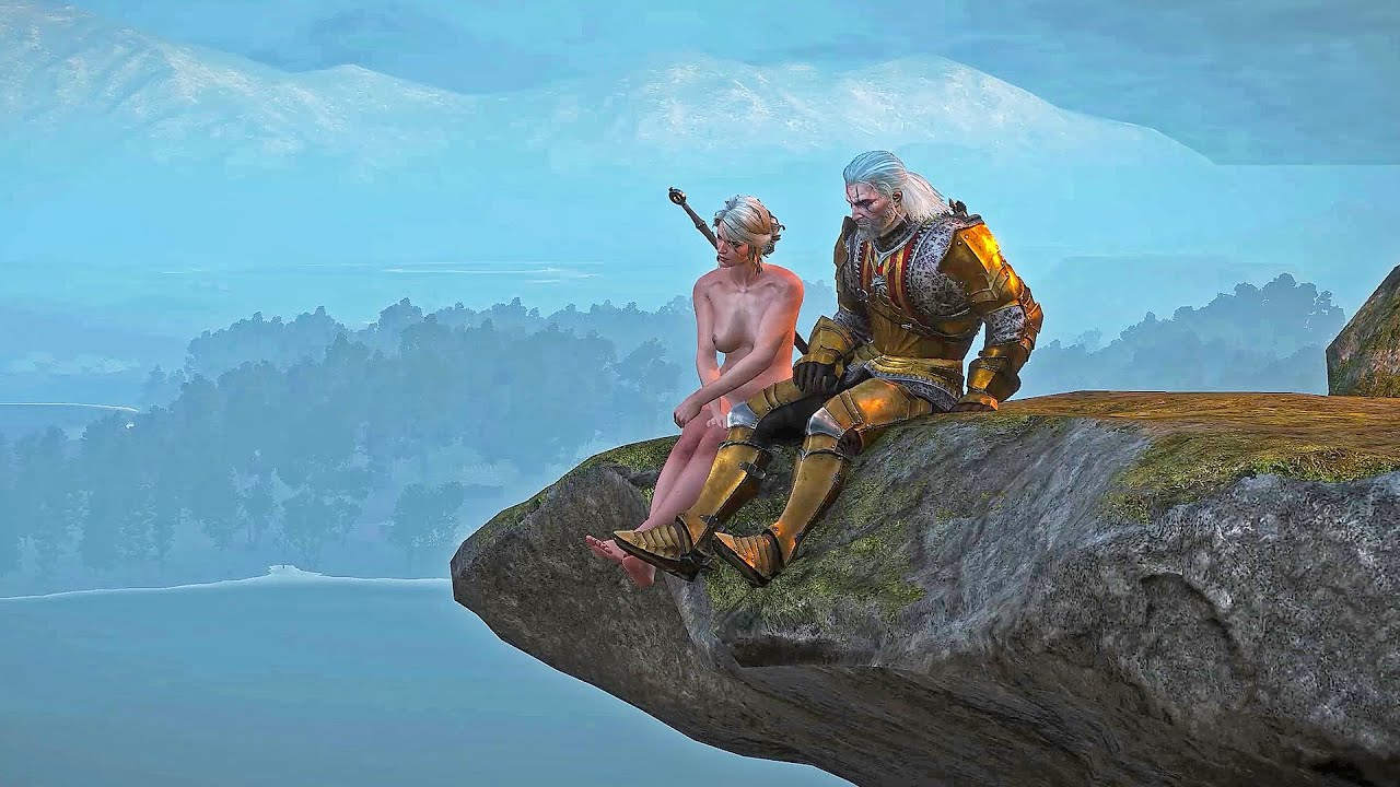 The Witcher III : Level-Hard. Naked Mod. Ciri Triss Part