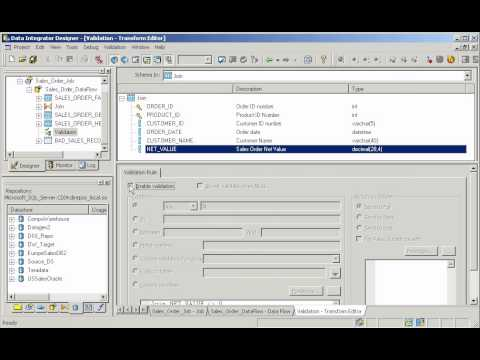 Business Objects Data Integrator demo