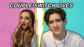 SWITCHING LIVES WITH MY GIRLFRIEND FOR 24 HOURS!!