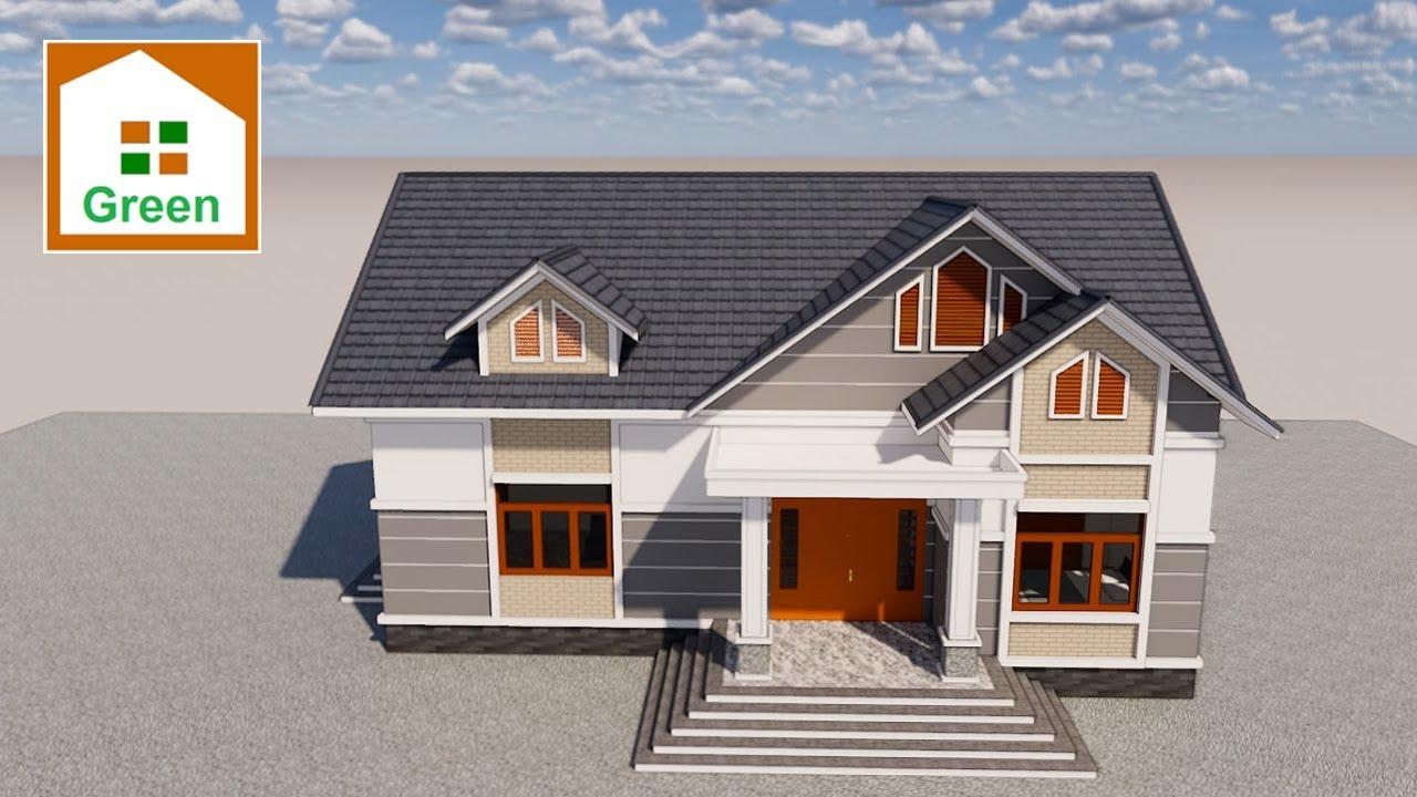 Mẫu Nhà Vườn Đẹp Có 3 Phòng Ngủ Đủ Công Năng Do Kts. Nhà Đẹp Green Thiết Kế   Góc Xem 360 Độ