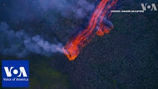 Lava Fountaining 100 Meters High From Hawaii's Kilauea