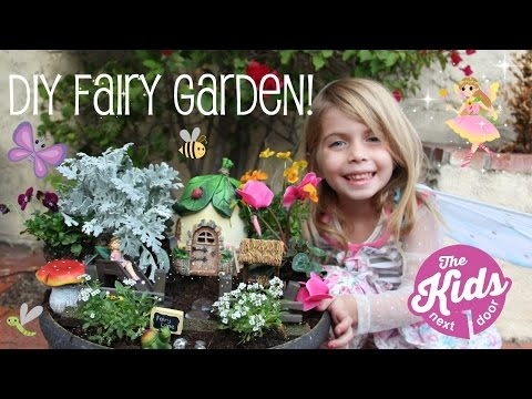 DIY FAIRY GARDEN | How to make a fairy garden for Kids | The Kids Next Door