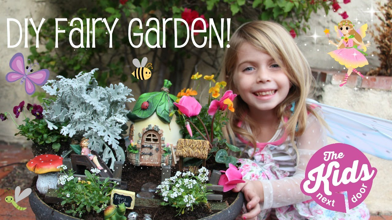 DIY FAIRY GARDEN How to make a fairy garden for Kids The Kids