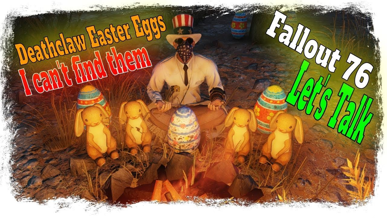 Fallout 76 Atomic Shop Deathclaw Easter Eggs - I can't find them in my camp  building mode