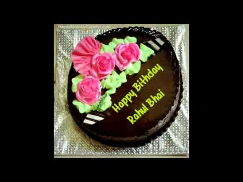 Birthday Cakes With Name Rahul ~ Happy birthday artist rahul ☺ youtube