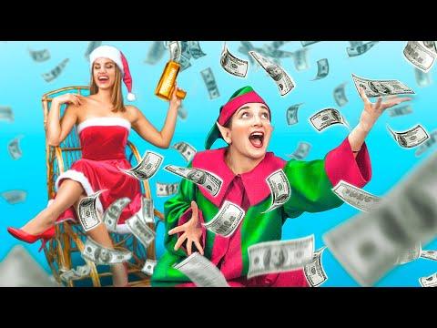 Богатая девушка vs бедная девушка на Новый год!