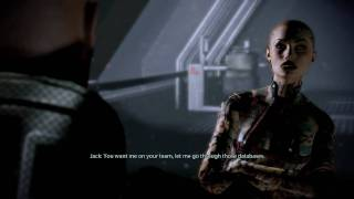 Mass Effect 2 - Shepard and Legion rescuing Jack (Hidden Dialogue)