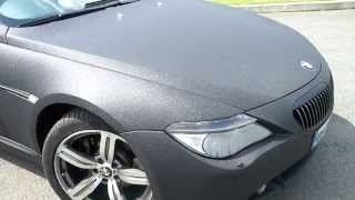 Bmw 640 wrap in Black Diamond. Re-styling.ie
