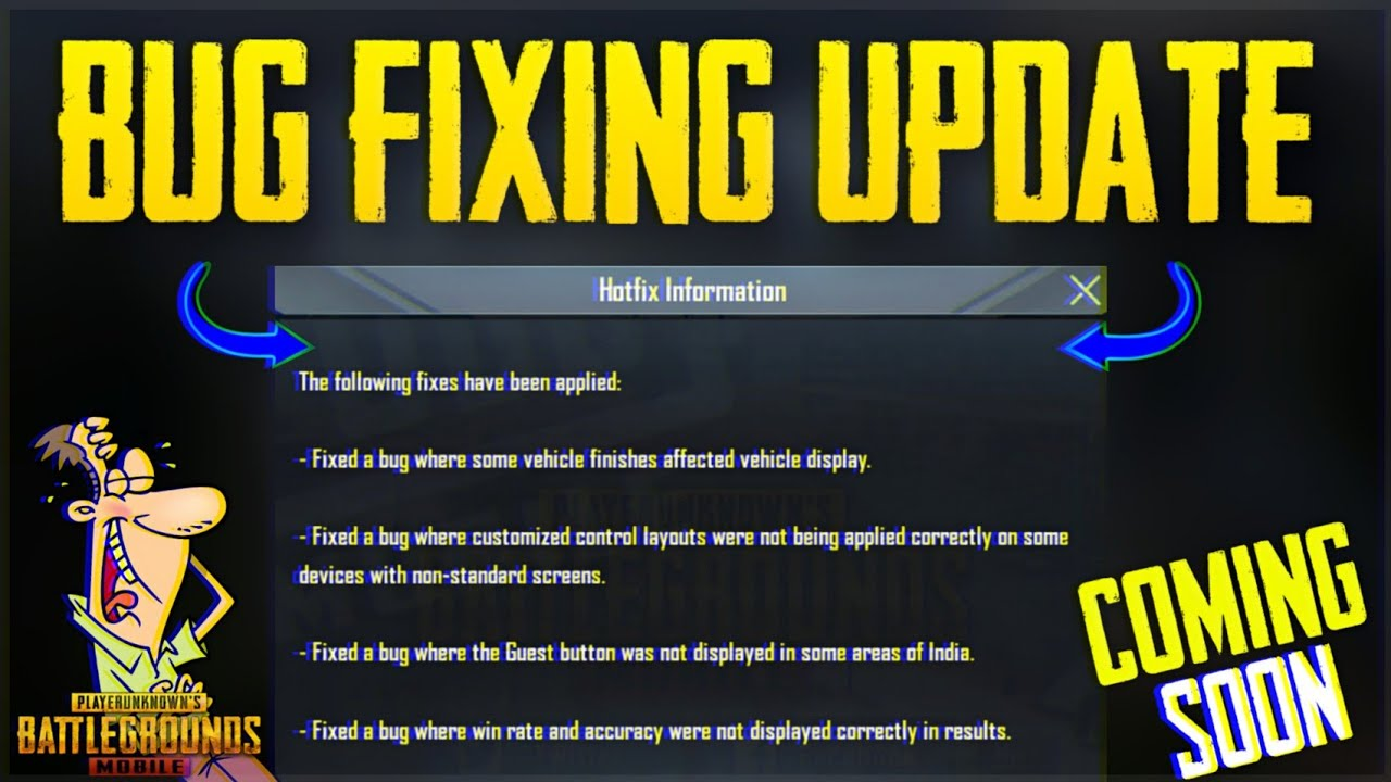 PUBG Mobile 0.14.0 New Bug Fixing Update is Here | Hotfix Information