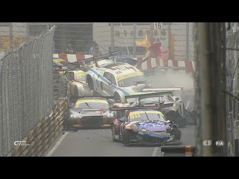 Macau Grand Prix 2017. All Crashes and Fails