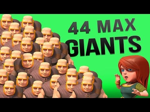 Clash of Clans :: 44 Max Giant Raid! ALL THE LOOT!
