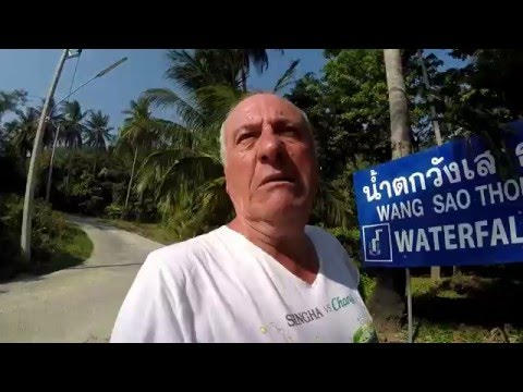 Koh Samui, The worst Waterfall and then motorbike Accident ! Vlog-032