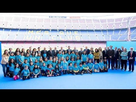 Ceremony for the renewal and expansion of the Barça - Unicef alliance