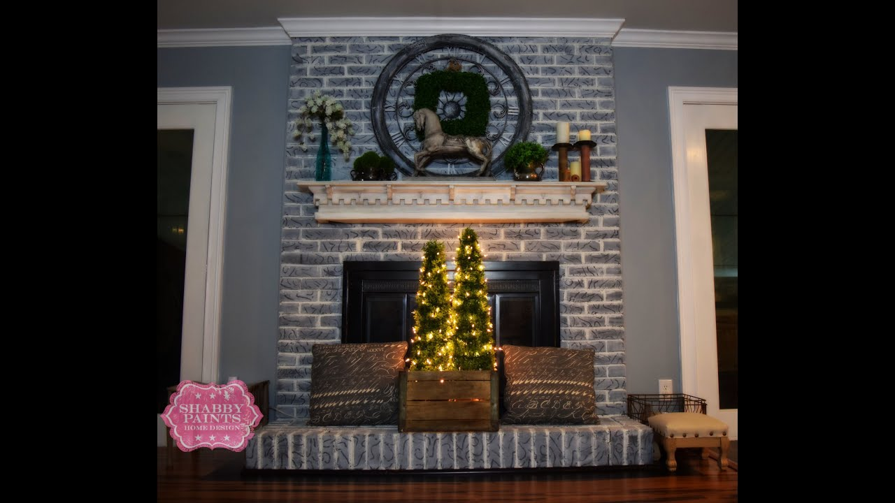 Aging brick for a warm farmhouse look. This project took less than 8oz. of paint and made a huge impact on my living room. Love Love the new look. You can se...