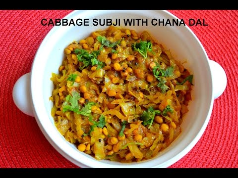 CABBAGE SUBJI WITH CHANA DAL
