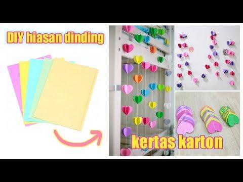 Kawaii 💚 DIY Hiasan Dinding dari Kertas Karton    Keren Banget!