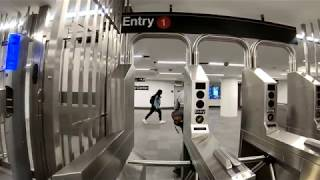 ⁴ᴷ Walking Tour of WTC Cortlandt (1) Subway Station