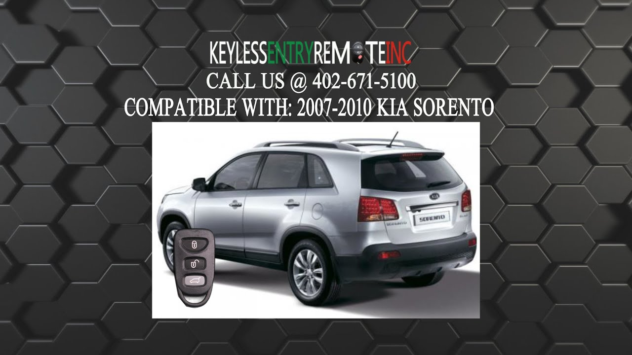How To Replace Kia Sorento Key Fob Battery 2007 2008 2009 2010