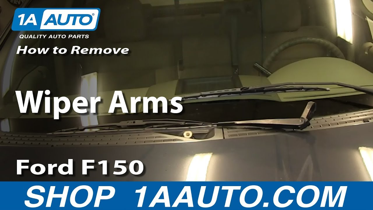How To Remove Install Wiper Arms 2004 08 Ford F150 Youtube