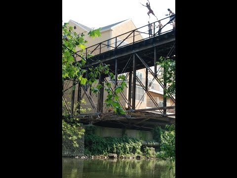 JUMPING OFF BRIDGE/CLIFF