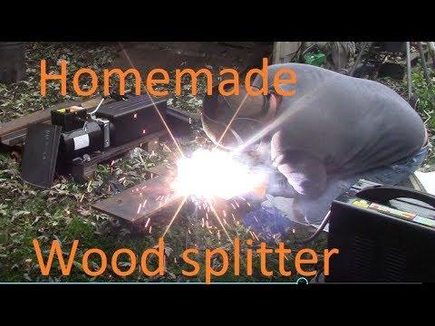 Homemade wood splitter, Electric / Hydraulic wood splitter PART 1