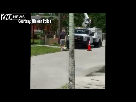 Thumbnail: Police: Upset homeowner fired on AT&T trucks parked out front