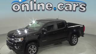 A98937XT Used 2015 Chevrolet Colorado Z71 4WD Crew Cab Black Test Drive, Review, For Sale