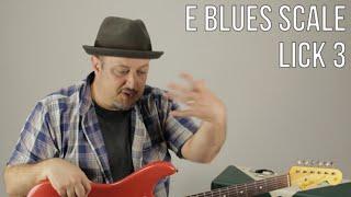 E Blues Scale Guitar Lesson - Lick 3 - Blues Rock Soloing by Marty Schwartz