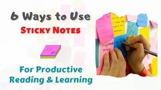 How To Use Sticky Notes | 6 Ways To Use For Reading & Learning | Sticky Notes | #shorts