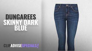 Top 10 Dungarees Skinny Dark Blue [2018]: Hallhuber Dark Blue Washed Skinny Jeans