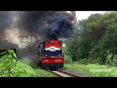 METER GAUGE ( MG ) TRAINS :  INDIAN RAILWAYS ( YDM-4 locomotive MHOW ) - 1
