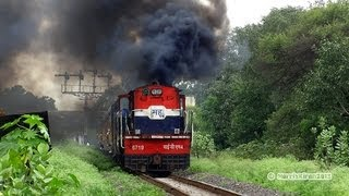 METER GAUGE ( MG ) TRAINS :  INDIAN RAILWAYS ( YDM-4 locomotive MHOW ) - 1