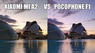 Camara del Pocophone F1 vs Xiaomi MI A2