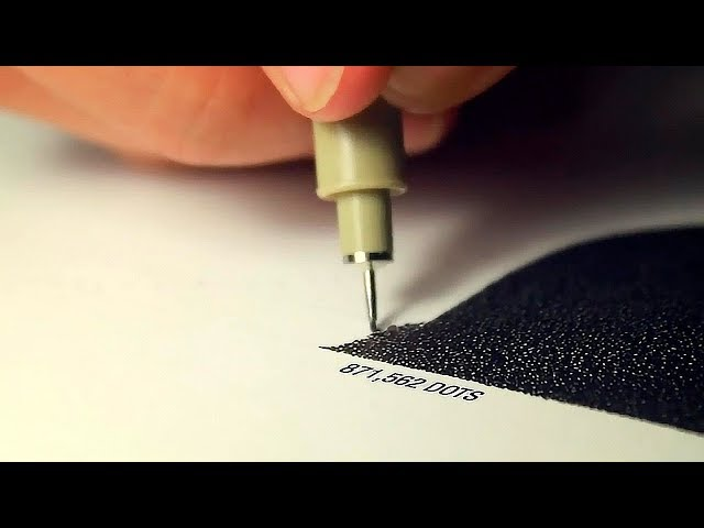 A PAINTING MADE OF 3 MILLION DOTS!