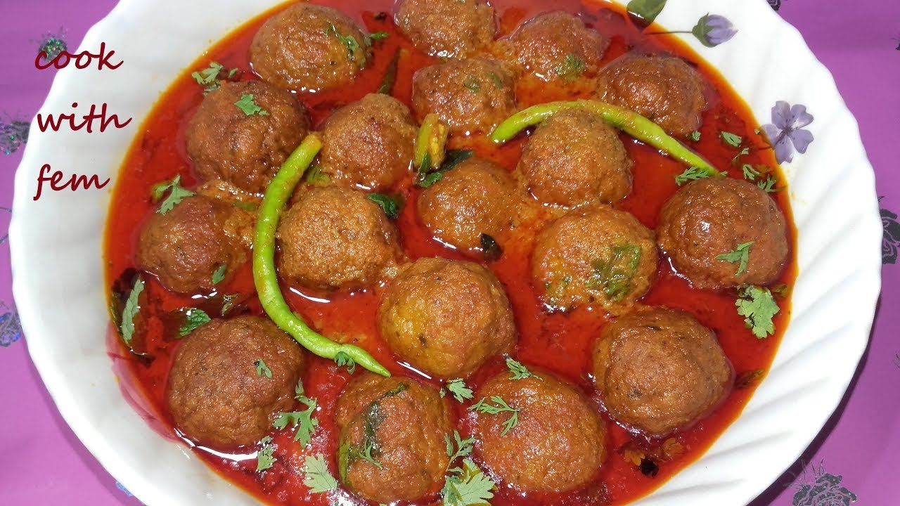 4dcc0a9096a Chicken Kofta Curry || Kofta Curry Recipe || How To Make Kofta Curry ...