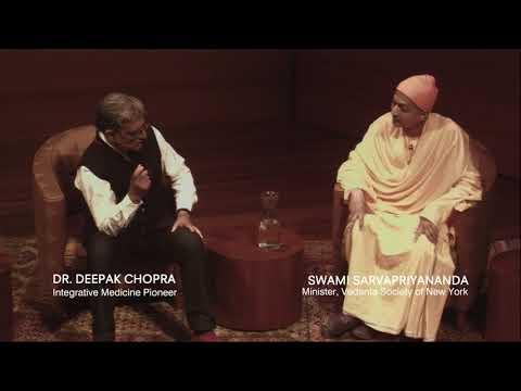 Deepak Chopra Interviews Swami Sarvapriyananda to Discuss Vedanta at the Rubin Museum of Art