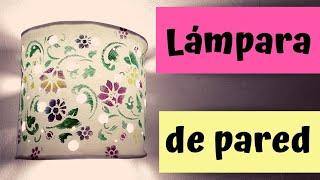 COMO HACER UNA LAMPARA DE PARED CON FOAMI/  fomi hecho arte