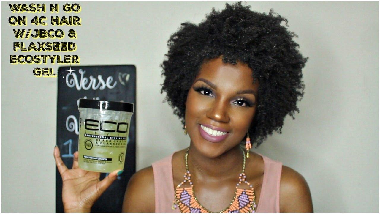 wash n go on 4c hair jbco flaxseed eco styler gel best fiends youtube. Black Bedroom Furniture Sets. Home Design Ideas