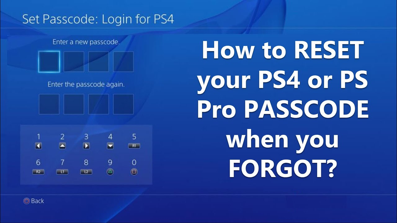 How To Reset Your Ps4 Or Ps Pro Passcode When You Forgot Youtube