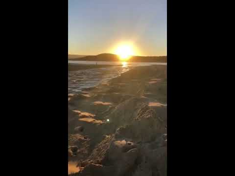 Lake Conjola Entrance Open and Flowing - at sunset - 19 June 2019