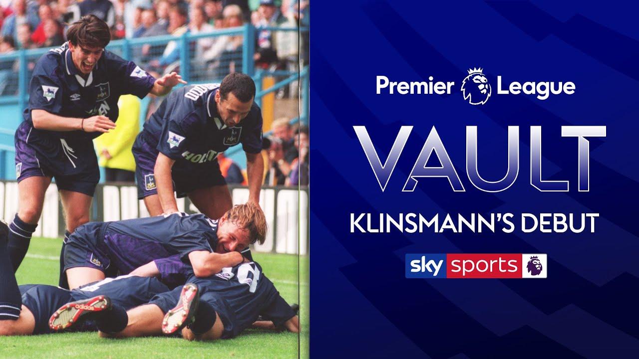 Jurgen Klinsmann's Tottenham debut! | Sheffield Wednesday 3-4 Tottenham | 20th August '94 | PL Vault